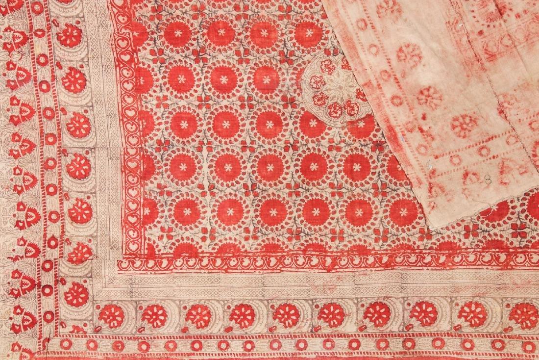 19th C. Central Asian Bokhara Blockprint Cloth: 92'' x - 3