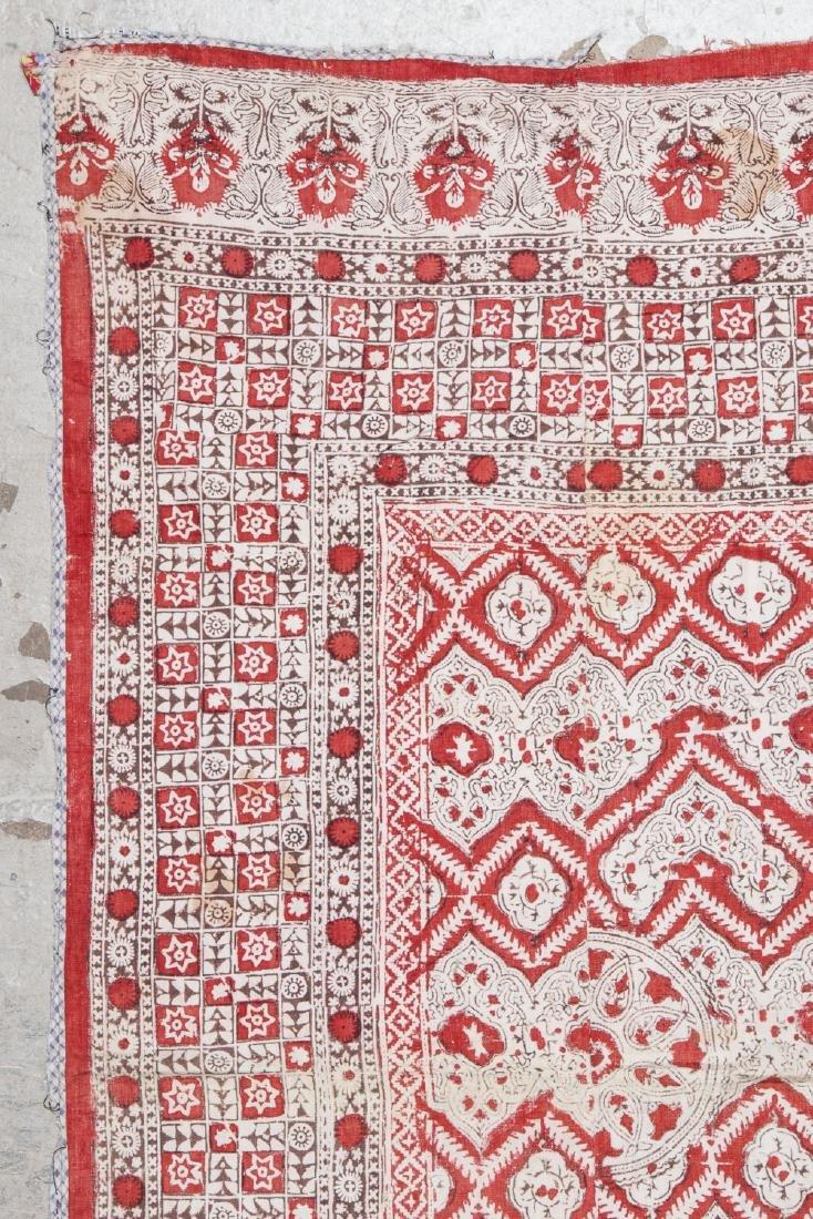Antique Central Asian Block Print Textile, Bokhara - 2