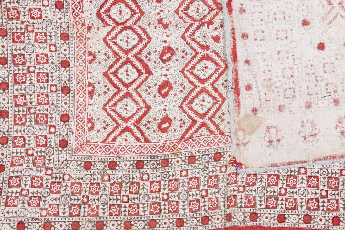 Antique Central Asian Block Print Textile, Bokhara - 3