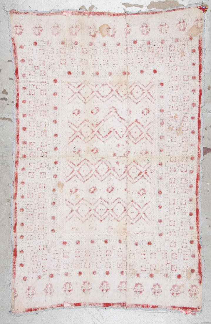 Antique Central Asian Block Print Textile, Bokhara - 4