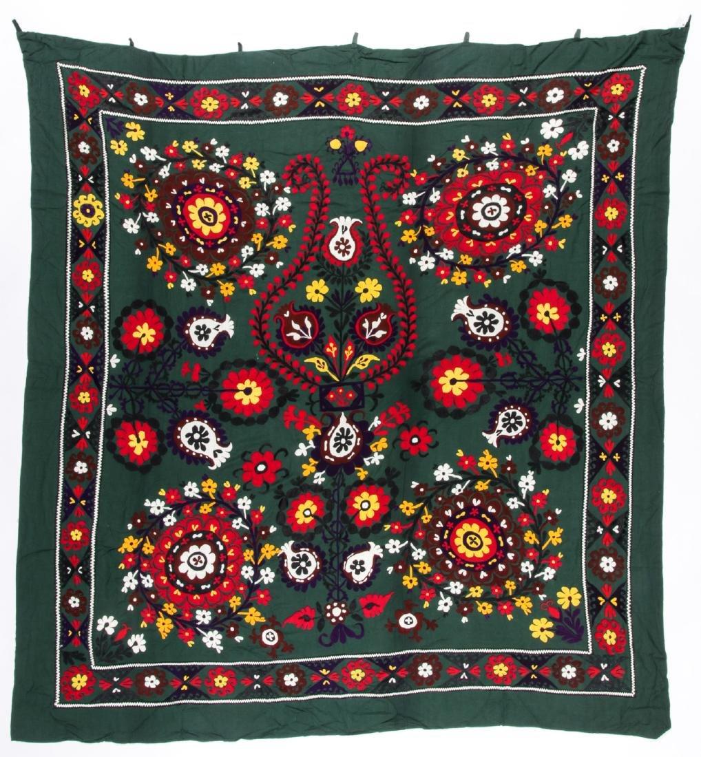 Semi-Antique Bokhara Suzani: 88'' x 79''