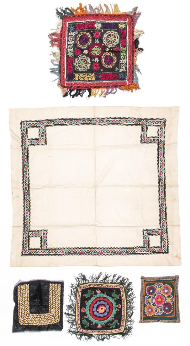 Collection of 5 Central Asian Embroideries