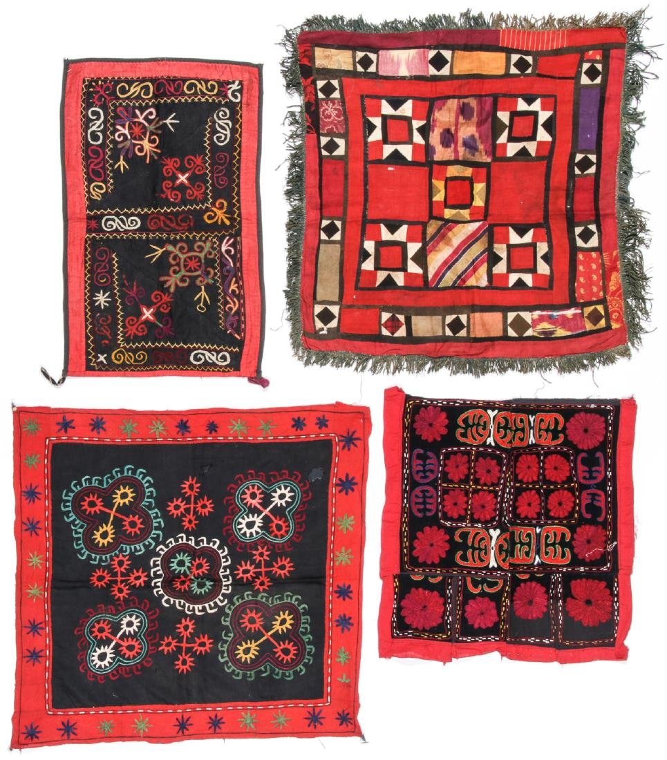 4 Antique Central Asian Embroideries