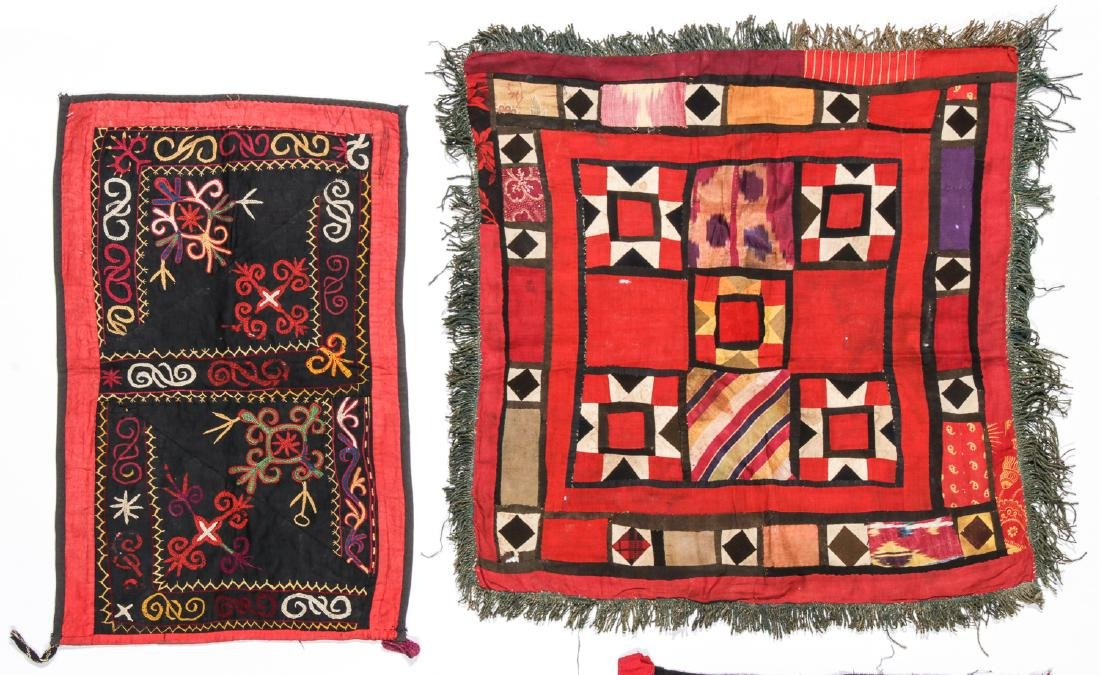 4 Antique Central Asian Embroideries - 2