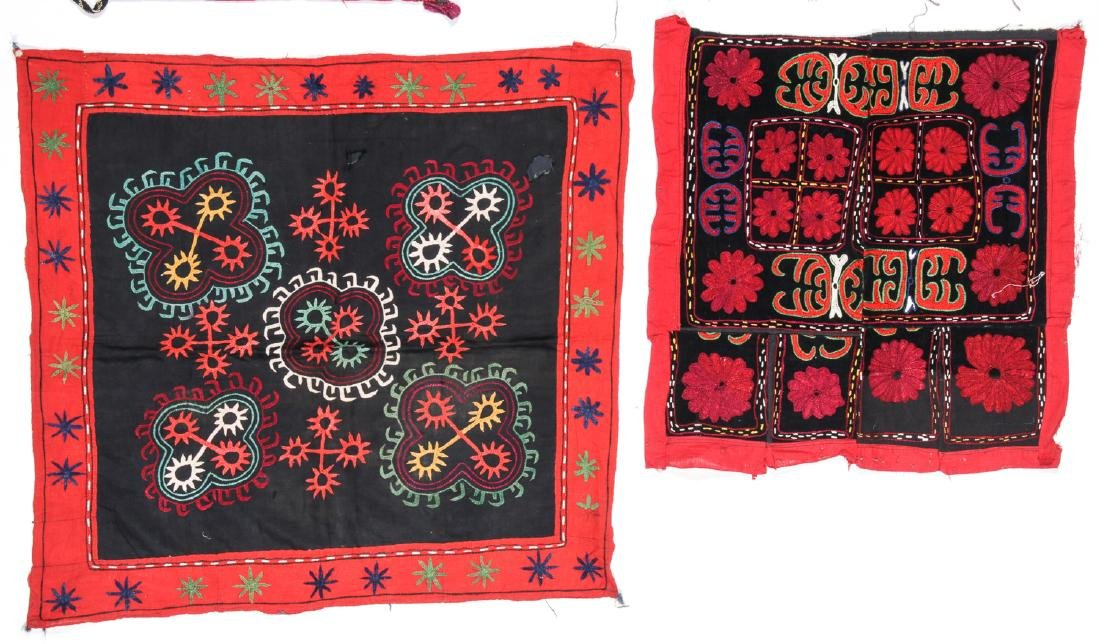 4 Antique Central Asian Embroideries - 3