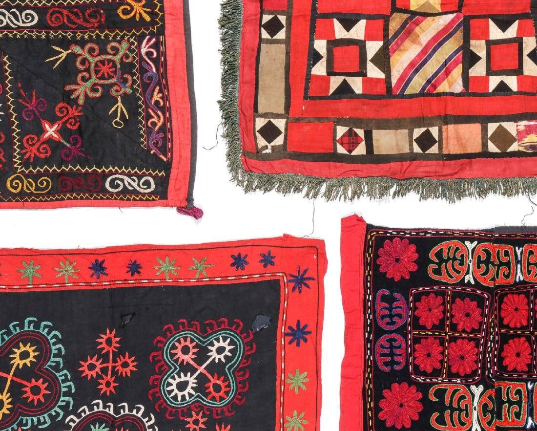4 Antique Central Asian Embroideries - 4