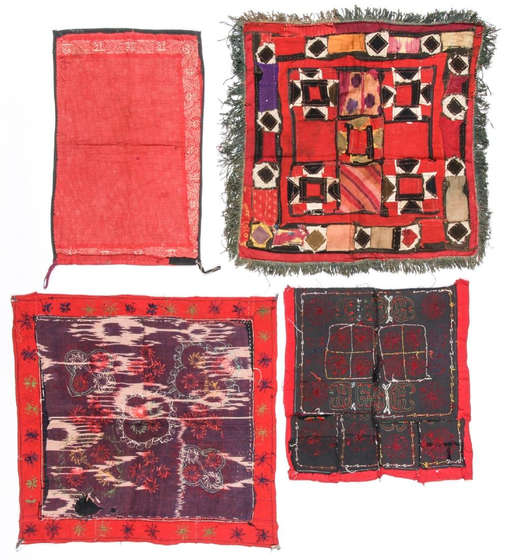 4 Antique Central Asian Embroideries - 5