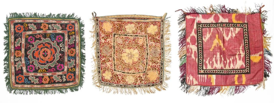 3 Antique Central Asian Embroideries