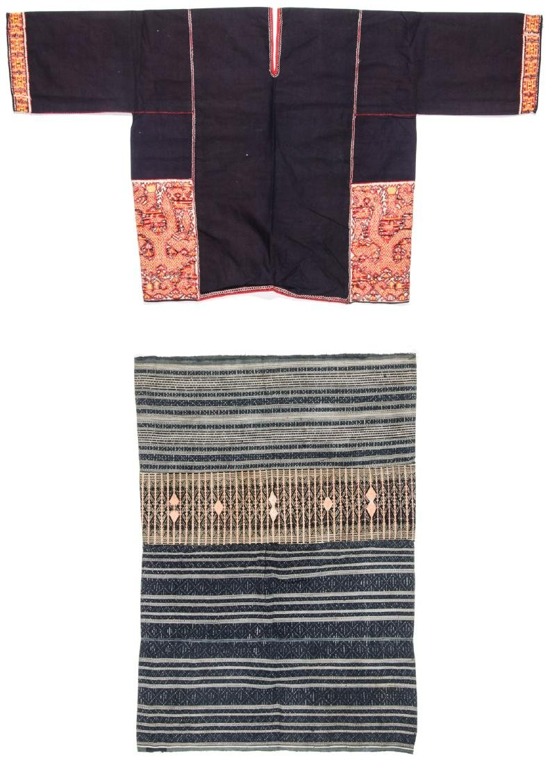 Two Embroidered Textiles, Li People, Hainan, China