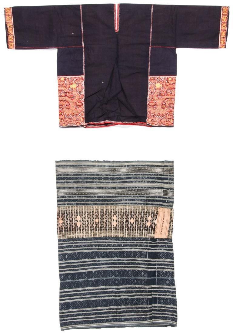 Two Embroidered Textiles, Li People, Hainan, China - 8