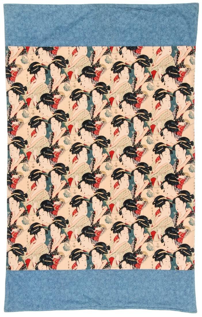 Japanese Batik: 65'' x 41'' (165 x 104 cm)