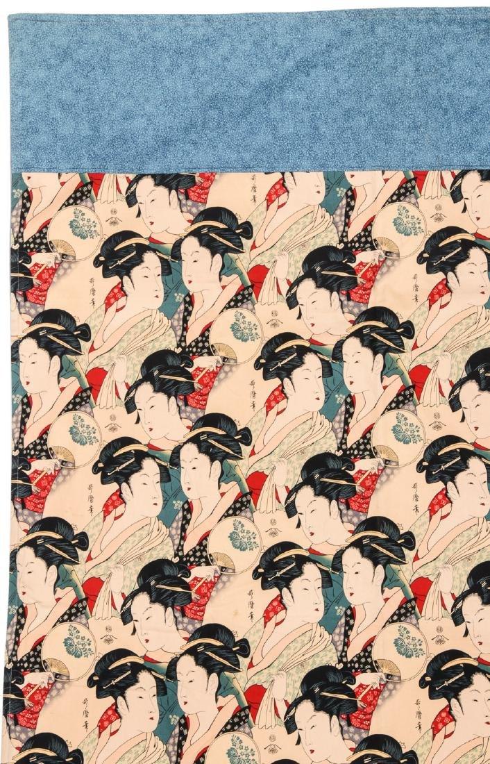 Japanese Batik: 65'' x 41'' (165 x 104 cm) - 2