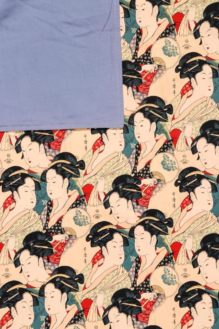 Japanese Batik: 65'' x 41'' (165 x 104 cm) - 3