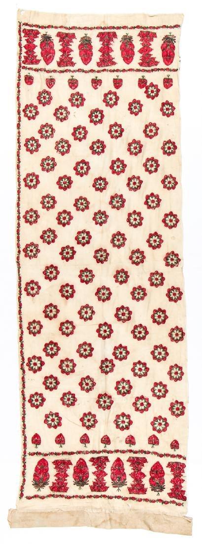 Antique Silk Embroidered Textile Panel, Pakistan