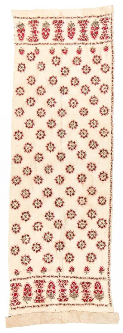 Antique Silk Embroidered Textile Panel, Pakistan - 4