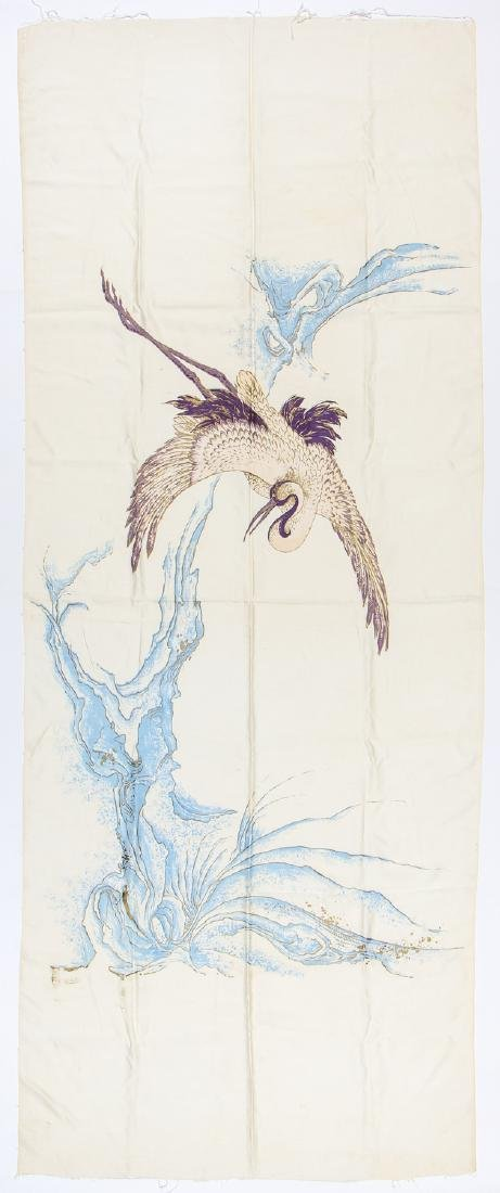 Antique Japanese Silk Banner