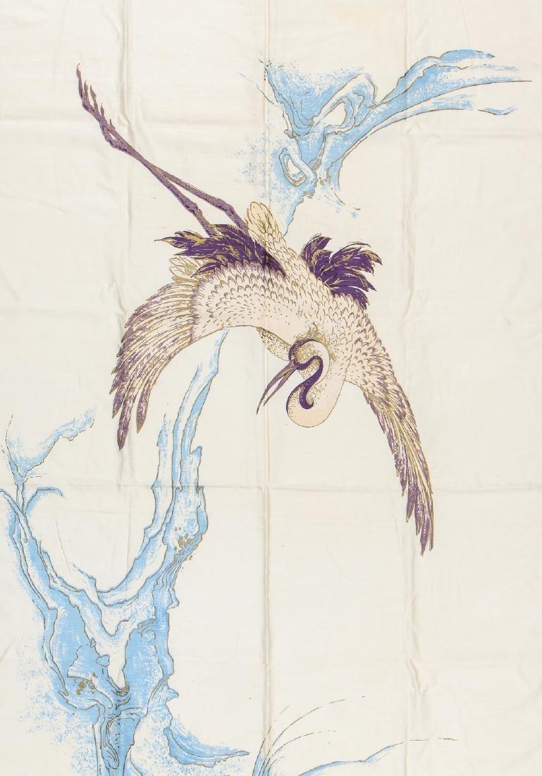 Antique Japanese Silk Banner - 2