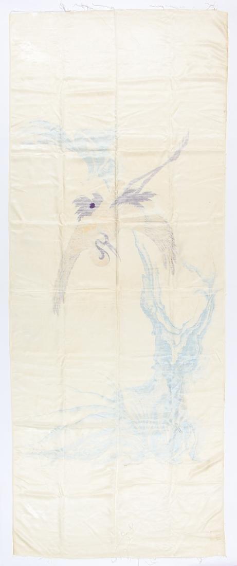 Antique Japanese Silk Banner - 4