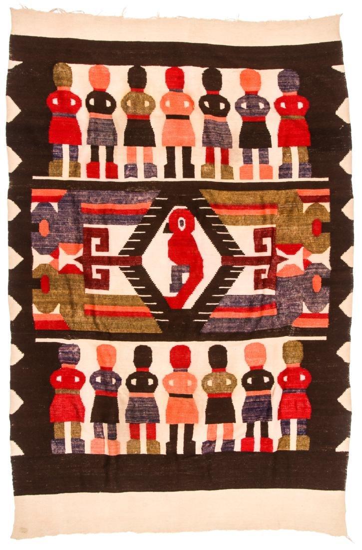 Wool Tapestry Blanket, Momostenango, Guatemala