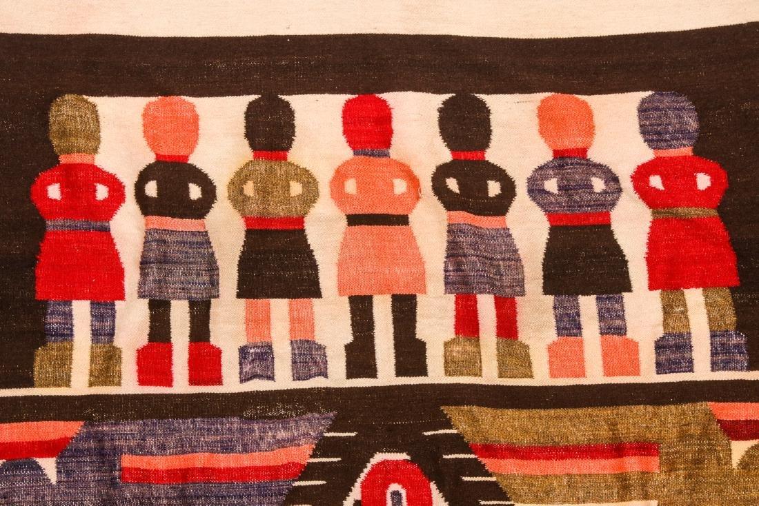 Wool Tapestry Blanket, Momostenango, Guatemala - 3