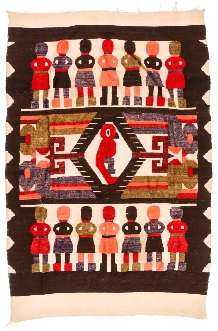 Wool Tapestry Blanket, Momostenango, Guatemala - 6