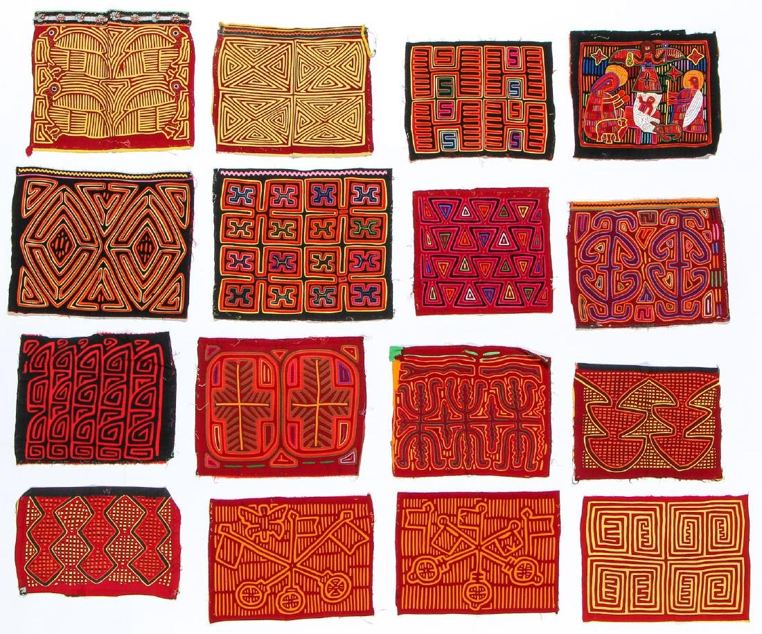 Collection of 16 Panamaian Molas