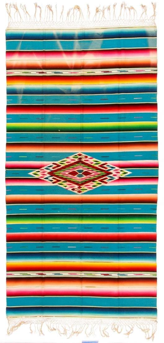 Fine Saltillo Serape, Mexico, Early 20th c.: 90'' x