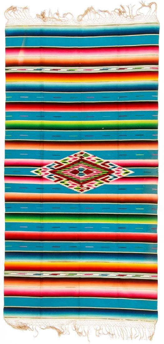 Fine Saltillo Serape, Mexico, Early 20th c.: 90'' x - 3