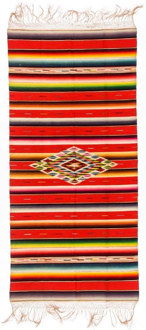 Saltillo Serape, Mexico, Early 20th c.: 78'' x 37''