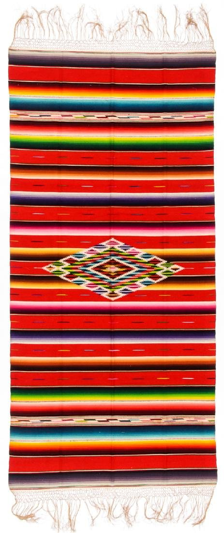 Saltillo Serape, Mexico, Early 20th c.: 78'' x 37'' - 3