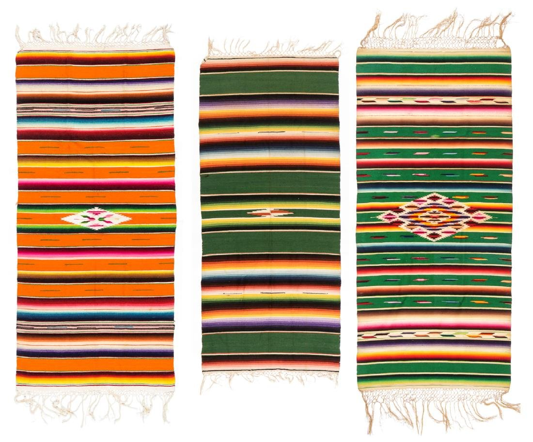 3 Saltillo Serapes, Mexico, Early 20th c.
