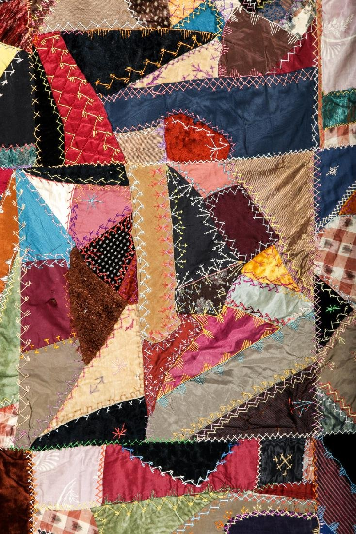 2 Antique American Crazy Quilts - 3