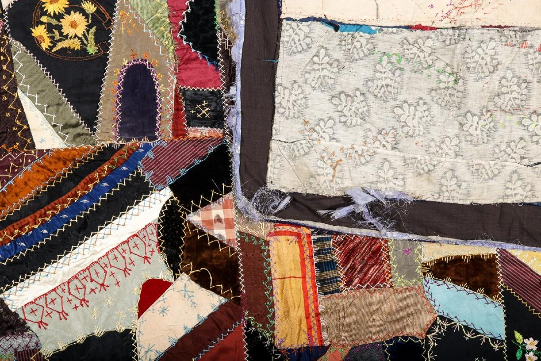 2 Antique American Crazy Quilts - 4
