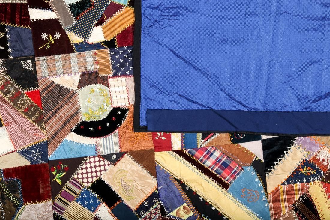 2 Antique American Crazy Quilts - 8