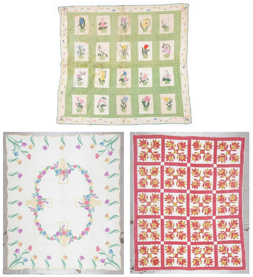 3 Antique American Quilts
