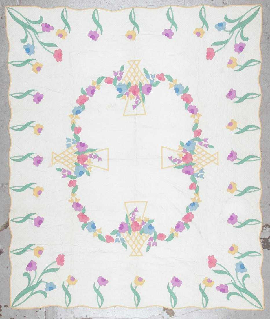 3 Antique American Quilts - 2