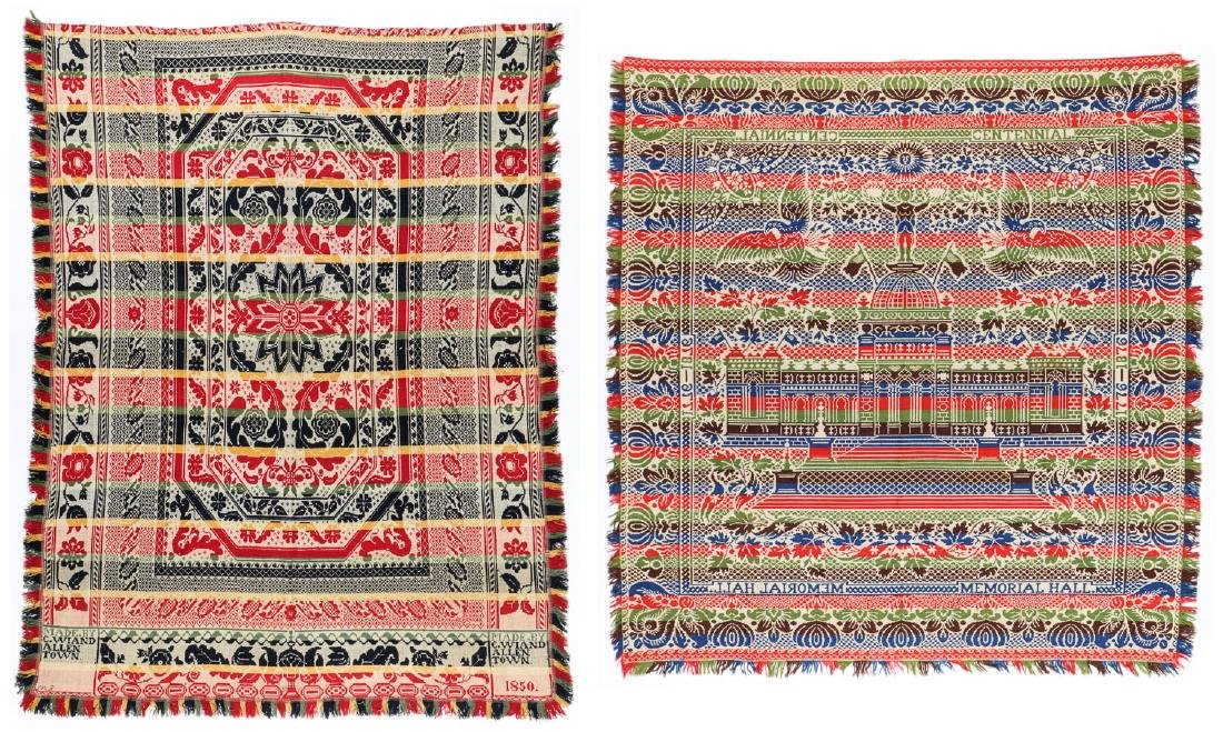 2 Antique American Wool Coverlets