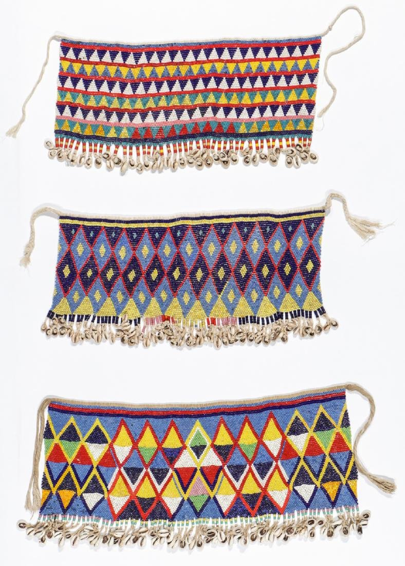 3  Kirdi Beaded Cache-Sex Aprons, Cameroon