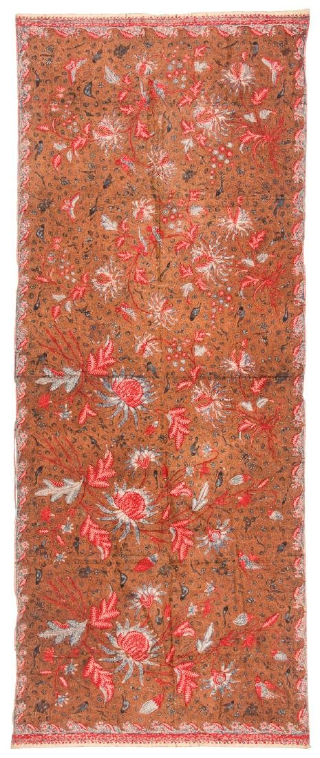 Cotton Batik Sarong, Java, Indonesia, Early 20th C.