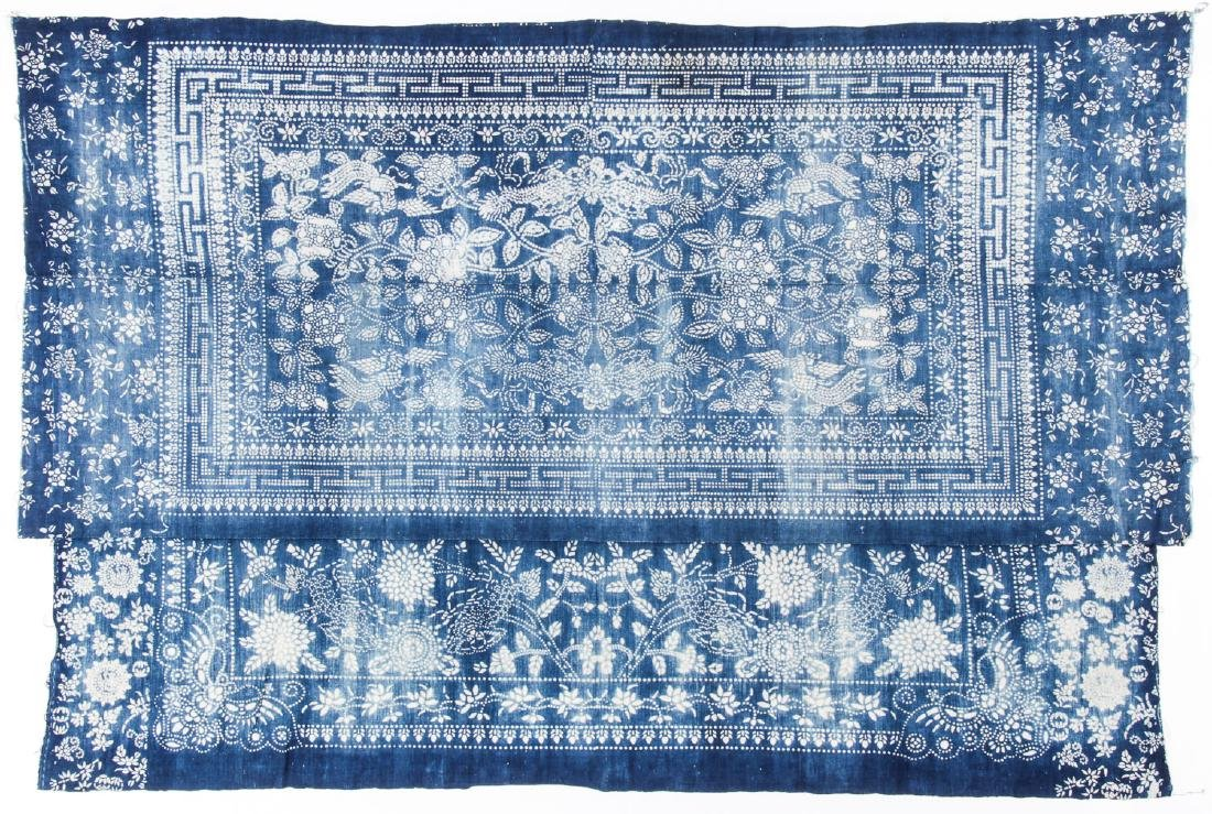 Cotton Indigo Batik, South China, Early 20th C.