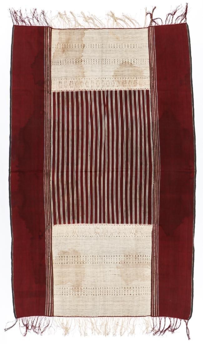 19th C.Ceremonial Textile/Ulos Ragidup, Sumatra