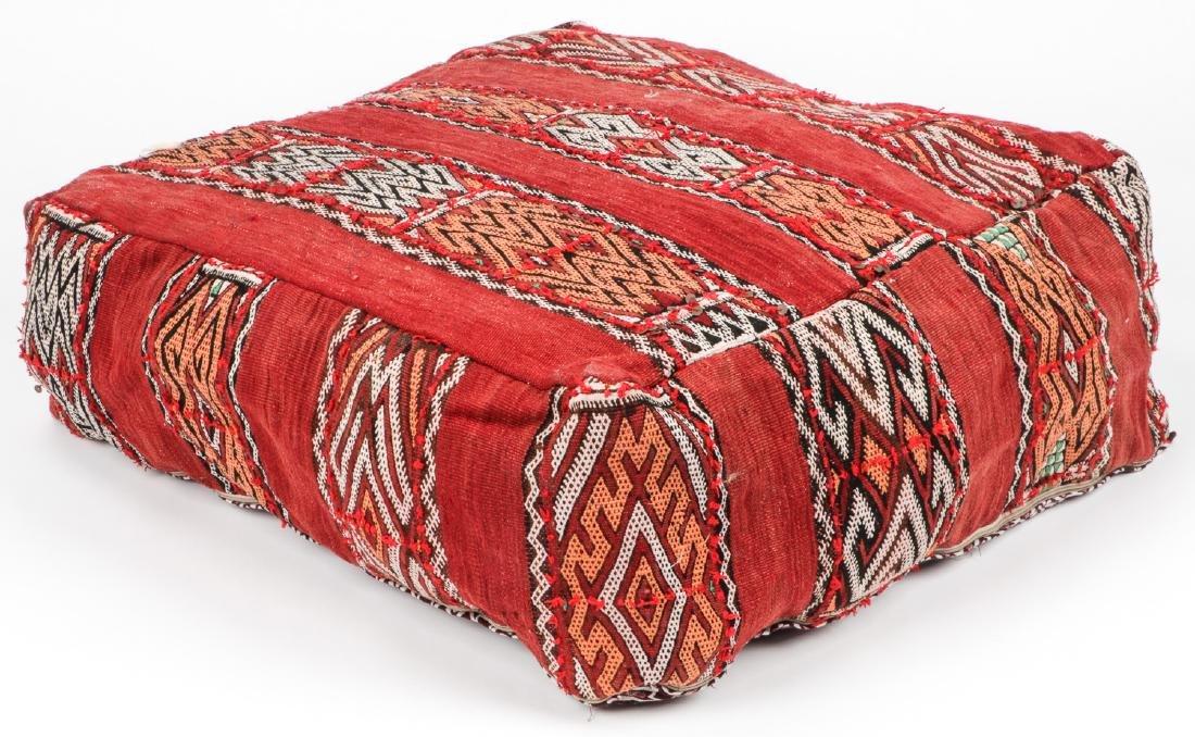 4 Vintage Moroccan Kilim Floor Cushions - 2