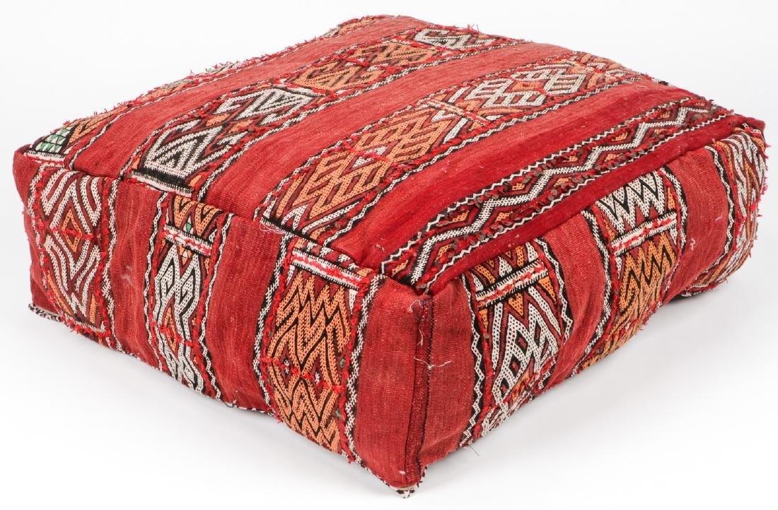 4 Vintage Moroccan Kilim Floor Cushions - 4
