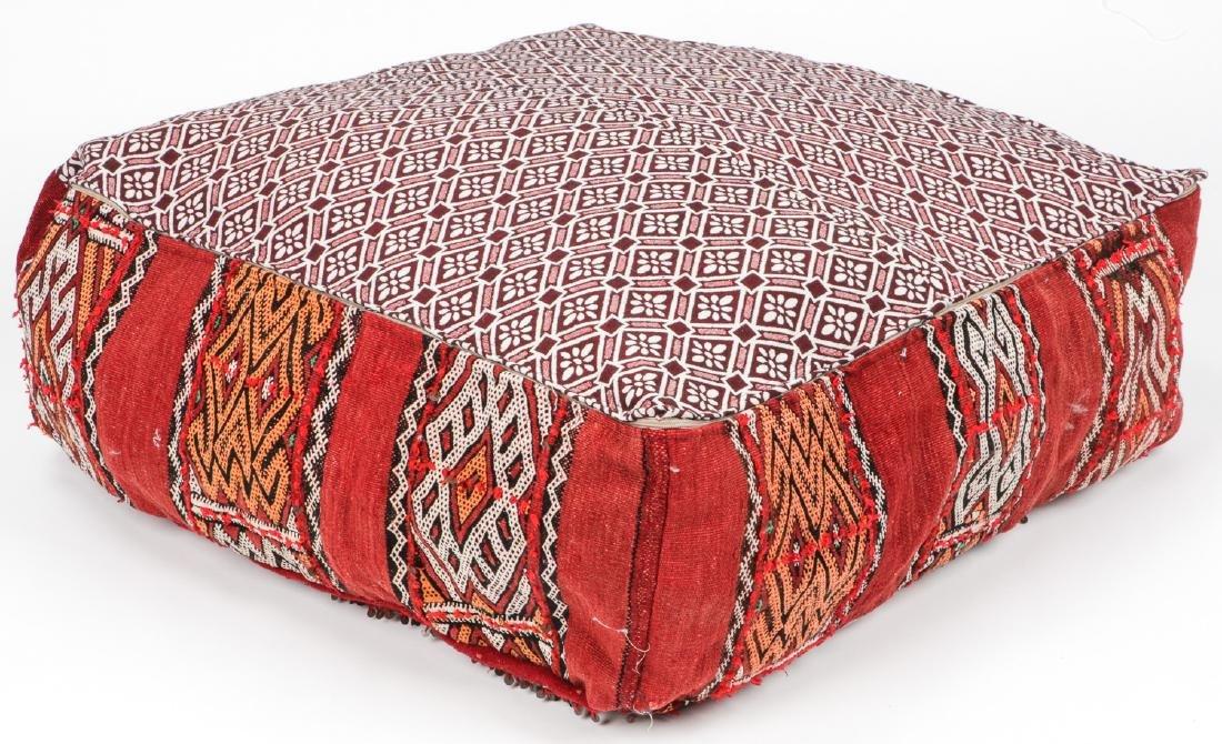 4 Vintage Moroccan Kilim Floor Cushions - 5