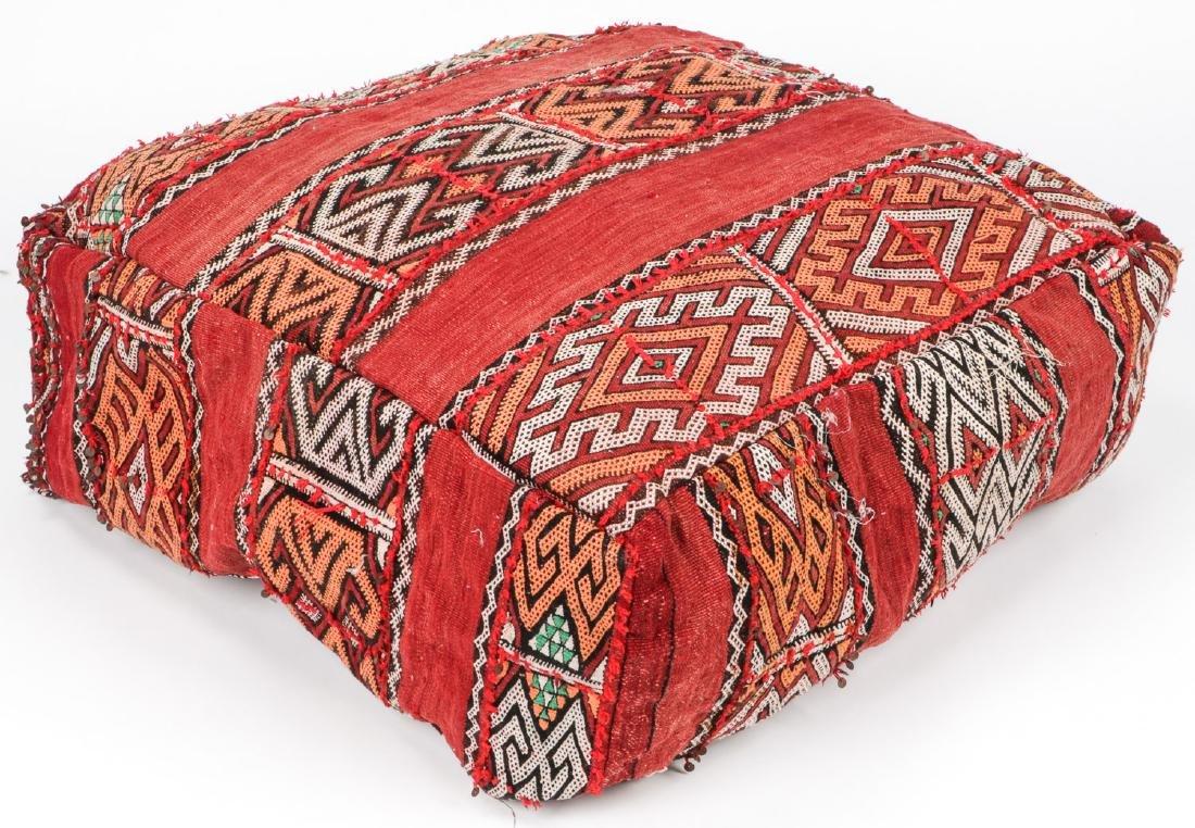4 Vintage Moroccan Kilim Floor Cushions - 6