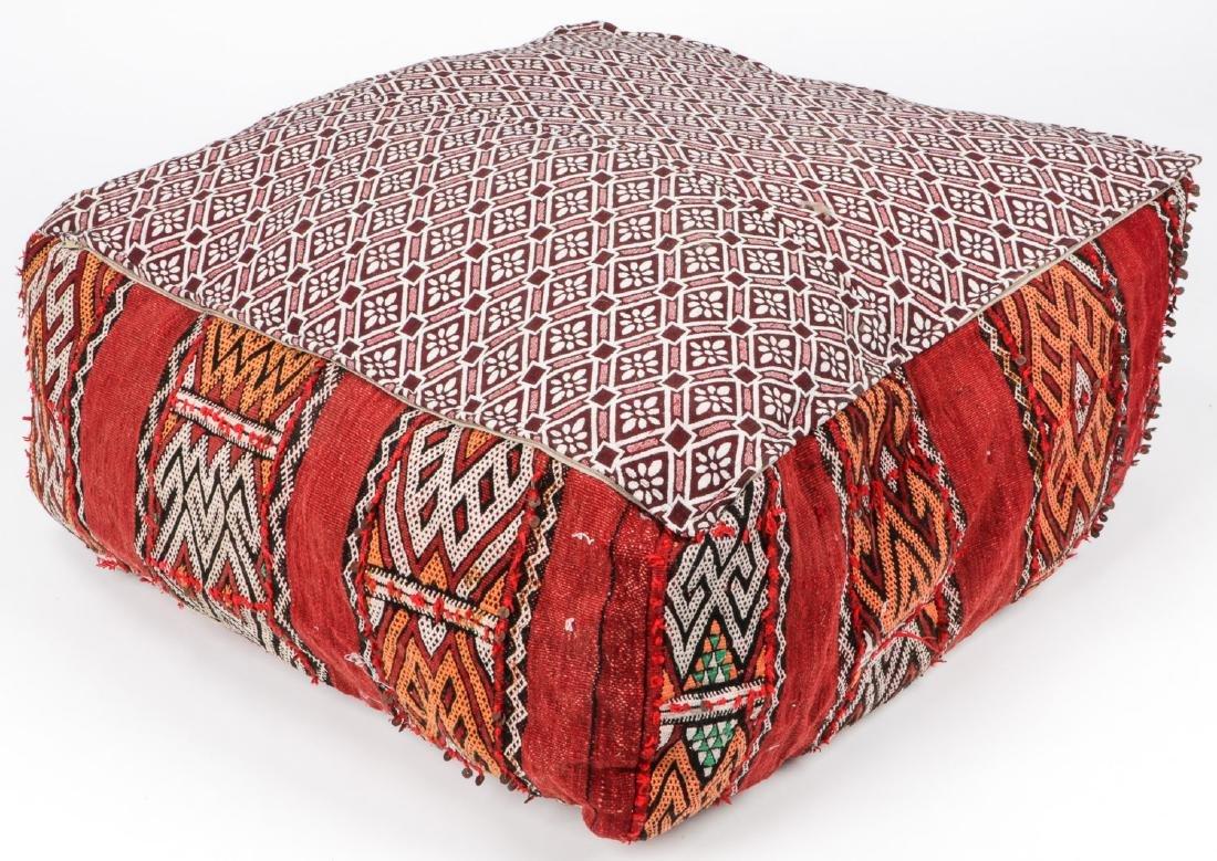 4 Vintage Moroccan Kilim Floor Cushions - 7