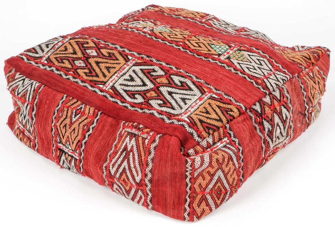 4 Vintage Moroccan Kilim Floor Cushions - 8