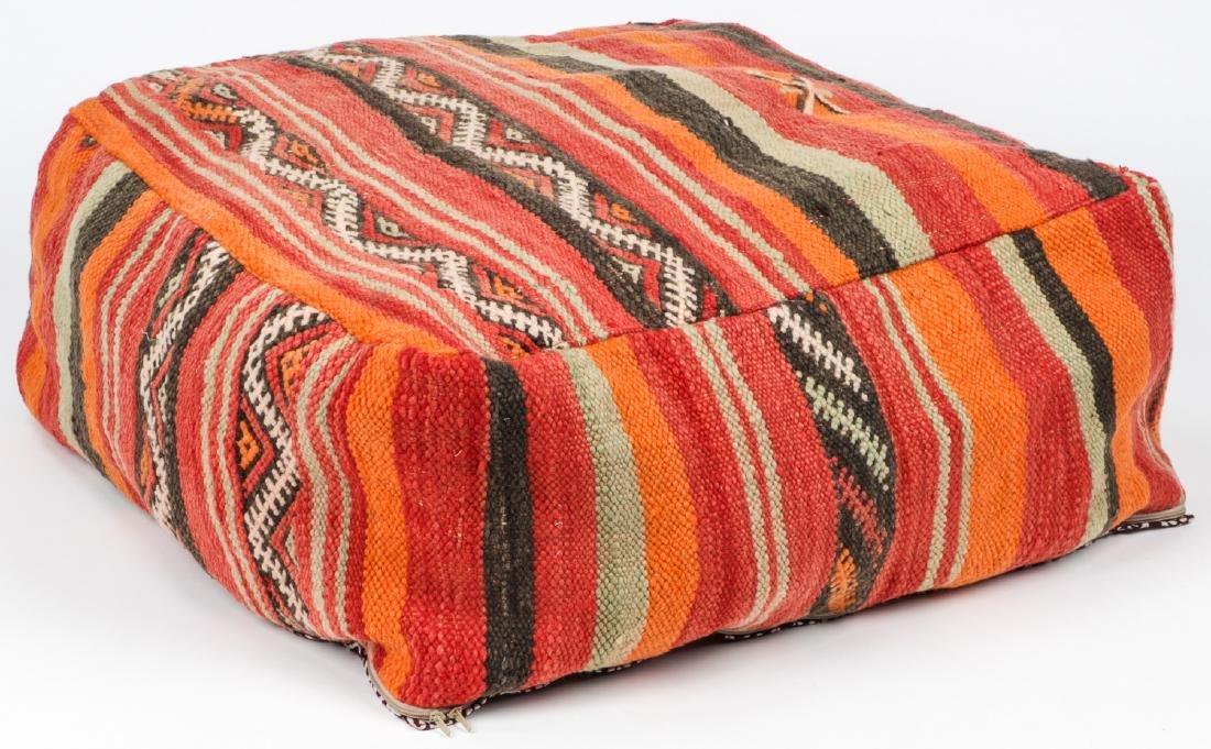 3 Vintage Moroccan Kilim Floor Cushions - 2