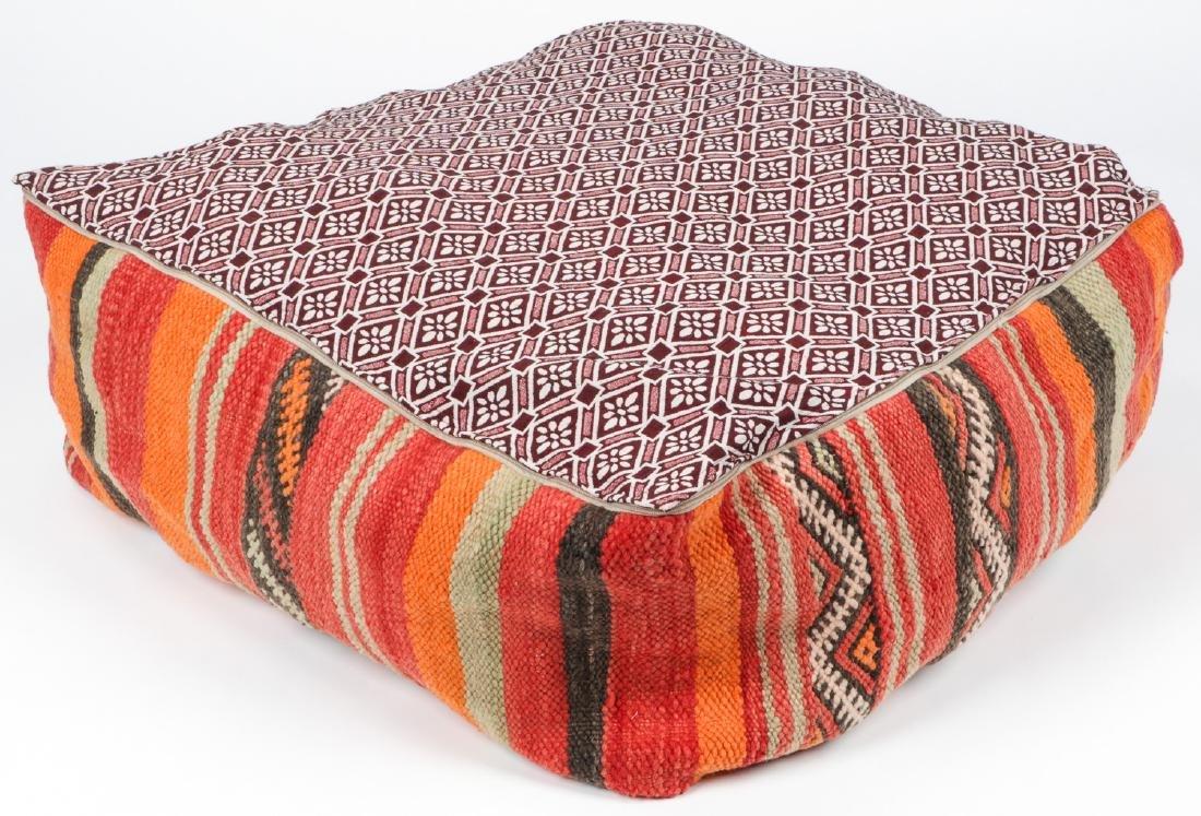 3 Vintage Moroccan Kilim Floor Cushions - 3