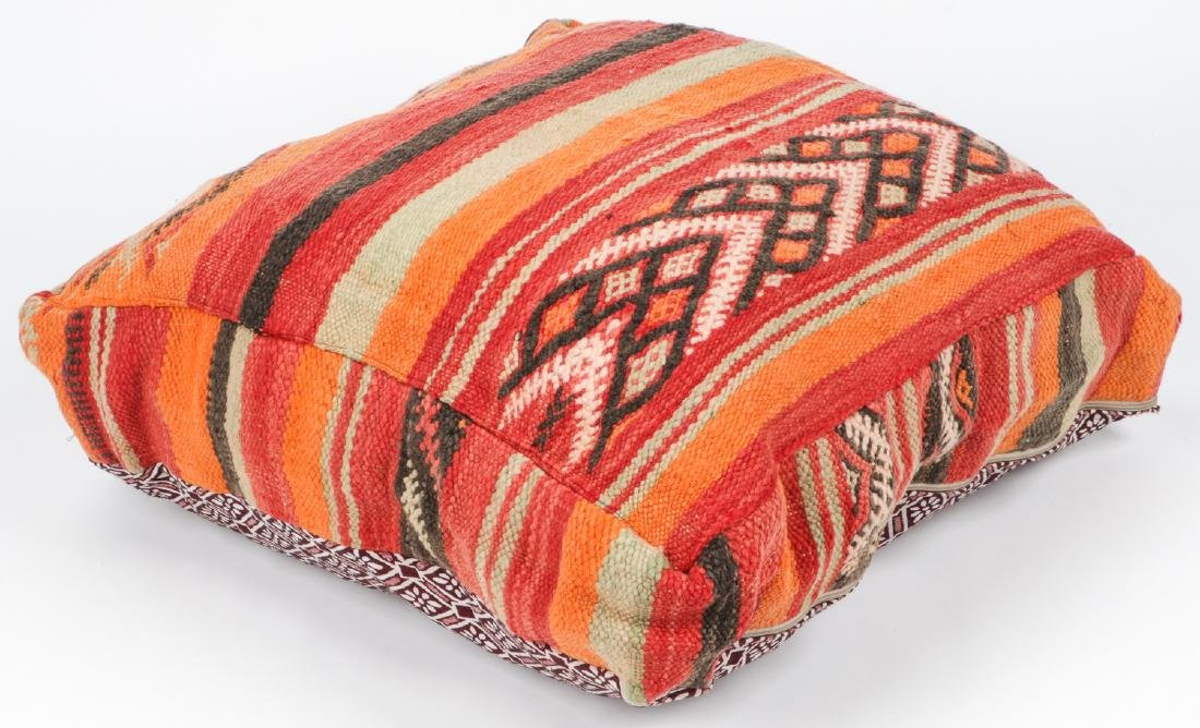 3 Vintage Moroccan Kilim Floor Cushions - 4